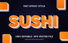 SUSHI TEXT EFFECTS STYLE