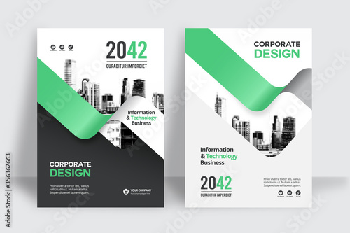 Fotomural City Background Business Book Cover Design Template