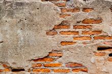 Weathered Old Ruin Concrete Wa...