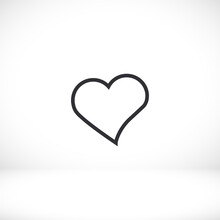 Heart Icon Beautiful Heart. Lo...