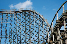 Wooden Roller Coaster Structur...