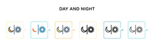 Day And Night Vector Icon In 6...