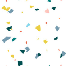 Terrazzo Seamless Pattern. Abs...