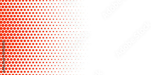 Fototapeta Abstract red and white circular halftone pattern banner background. vector. 2020 obraz