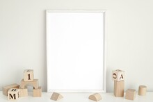 White Frame Mockup For Nursery...
