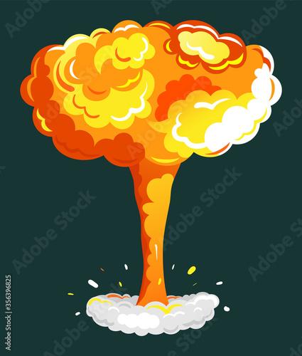 Fotografia Explosion cartoon bomb in yellow color