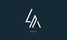 Alphabet Letter Icon Logo LA