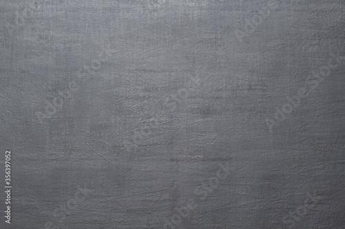 Fototapeta Background from textured canvas painted dark gray obraz