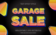 GARAGE SALE TEXT EFFECTS STYLE