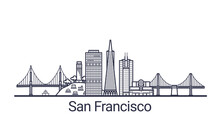 Linear Banner Of San Francisco...