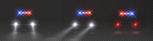 Police Headlights Flares And S...