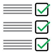 Checklist Vector For Correct S...