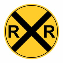 Rail Road Crossing Sign Isolat...