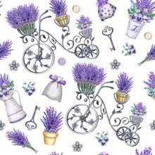 Provence Seamless Watercolor P...