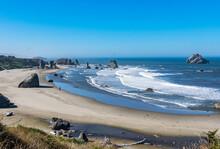 Low Tide In Bandon Beach Oregon