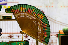 A Colorful Chinese Fan On The ...