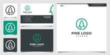 Modern Pine Logo Illustration....