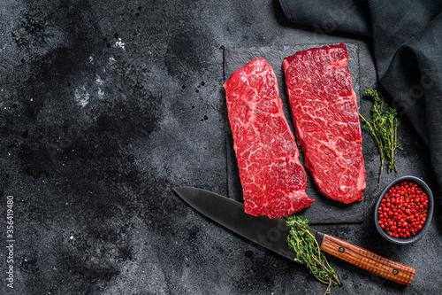 Foto Marble beef Denver steak with herbs