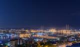 Vladivostok cityscape skyline at night.