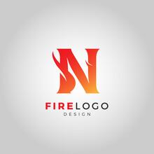 A Letter Fire Logo Template