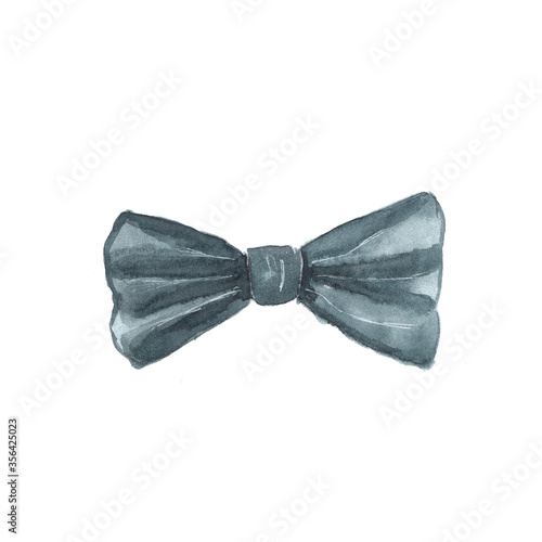 Cuadros en Lienzo Watercolor illustration of a bow tie on a white background