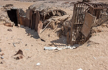 Old Abandoned Military Bunker In The African Desert