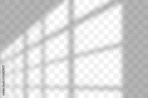 Leinwand Poster Vector transparent window shadow