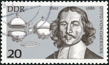 GEMANY - 1977: Shows Otto Von Guericke (1602-1686), 1977