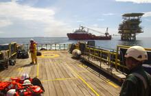 Oil Rig And A Transportation V...