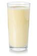 Leinwandbild Motiv Milk drink smoothie fruit juice milkshake shake in a glass isolated on white