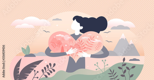 Canvastavla Nature lover vector illustration