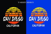 San Diego California T-shirt D...