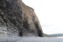 Jagged Triangular Rock Face Wi...