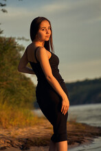 Beautiful Girl On The Nature N...