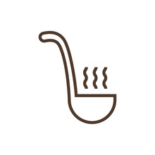 Linear Vector Icon With Scoop ...