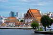 Leinwanddruck Bild Wat Kalayanamit Varamahavihara in Bangkok, Thailand in day time.