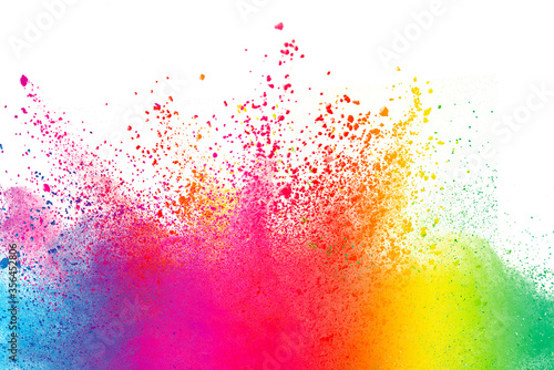 Leinwand Poster Abstract powder splatted background