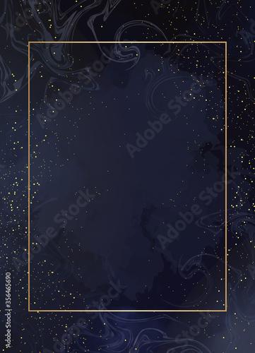 Photo Magic night dark blue card with sparkling glitter