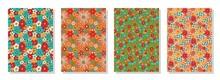 Vintage Floral Patterns Set. P...
