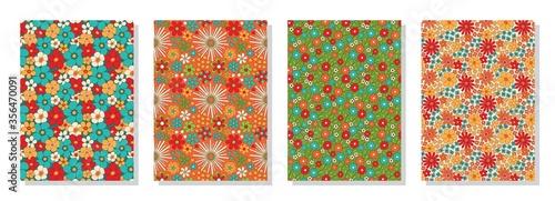 Photo Vintage floral patterns set