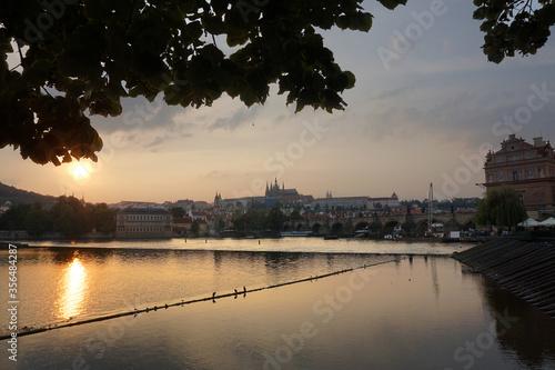 Obraz na plátně Moldava the river of Praga