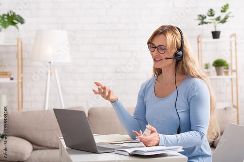 Fototapeta Customer support remotely