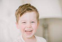 Portrait Of Preschooler Laughi...