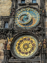 Astronomical Clock On Old Town City Hall, Prague, Czech Republic