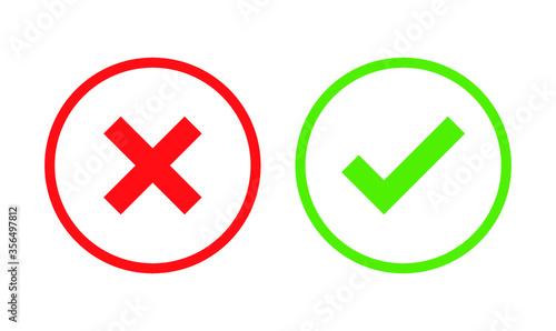 Fototapety, obrazy: Checkmark TRUE AND FALSE