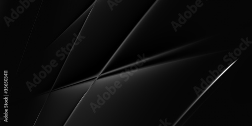 Photo 3D luxury black business cover design, metal beauty, silver effect background