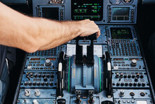 Pilot Operating Airplane In Co...