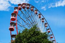 From Below Of Ferris Wheel Wit...