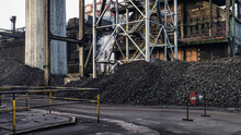 Heaps Of Coal Placed In Indust...