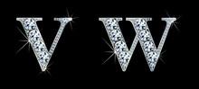 Diamond Alphabet Letters. Stun...